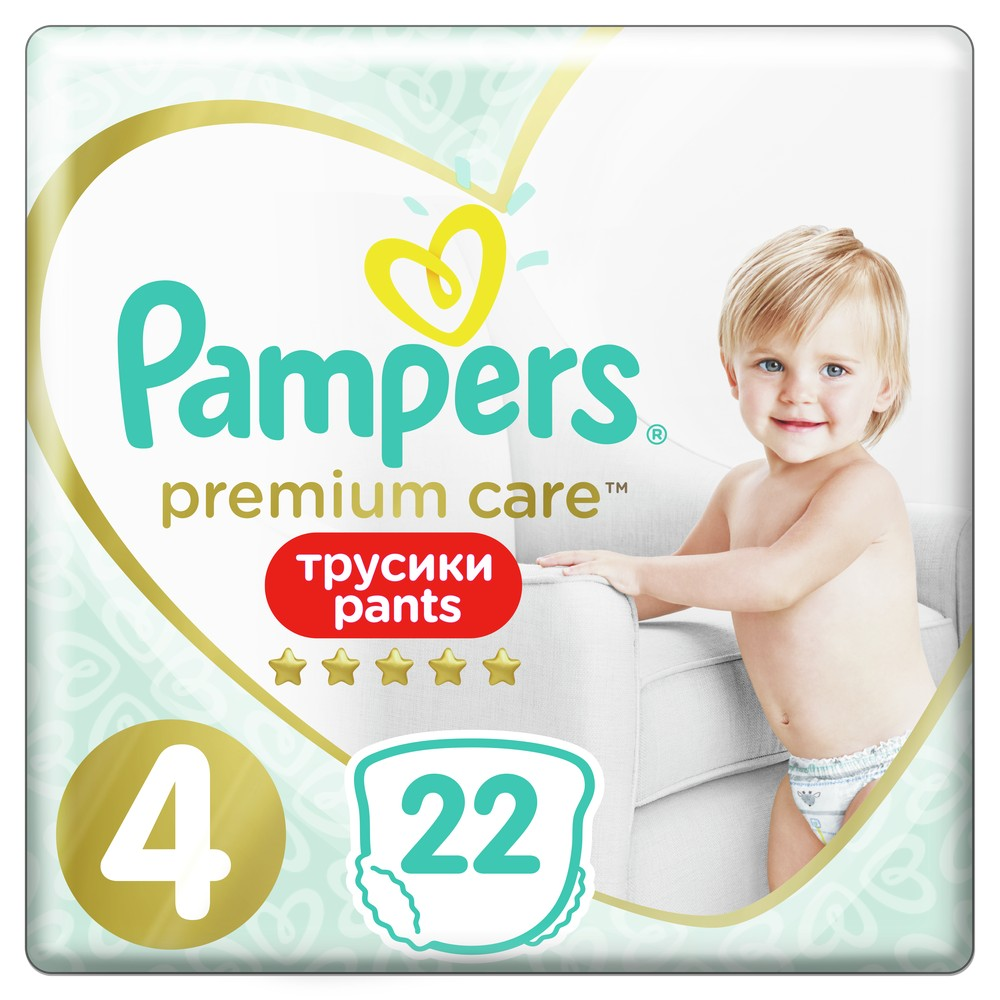 Подгузники-трусики Pampers Premium Care Pants 4 (9-14 кг), 22 шт.