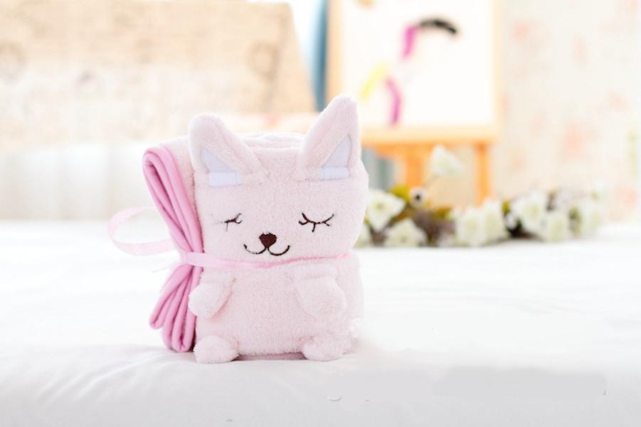 Купить Плед-игрушка котенок розовый 100х80 см, Плед-игрушка Котенок Розовый 100х80 см, Beitalun, Детские пледы