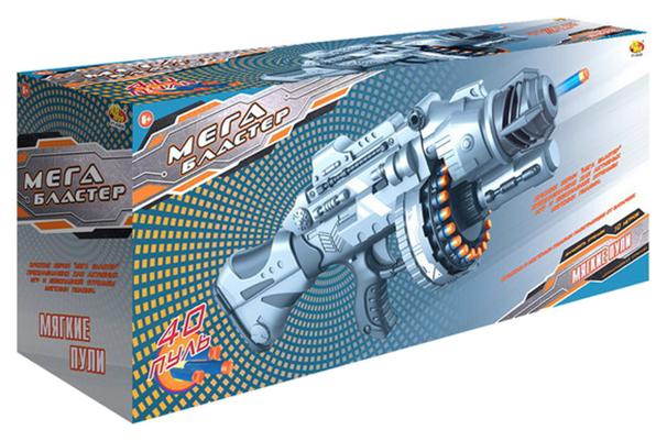 Купить Бластер ABtoys стреляющий мягкими снарядами, 40 шт. 56, 50x14, 50x24, 50 см PT-00926, Бластеры
