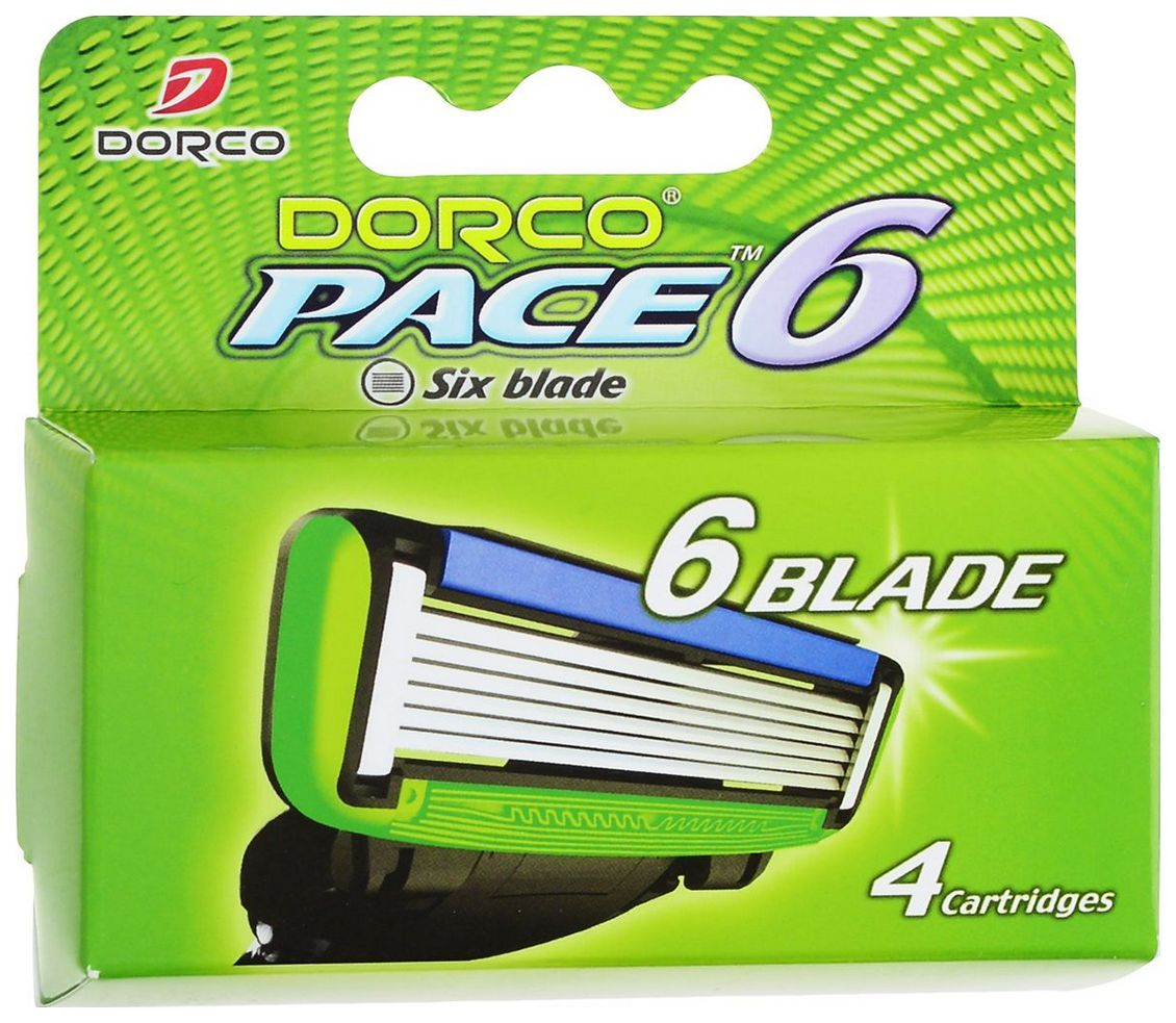 Сменное лезвие для станка Dorco Pace Six Blades 4 Cartridges.