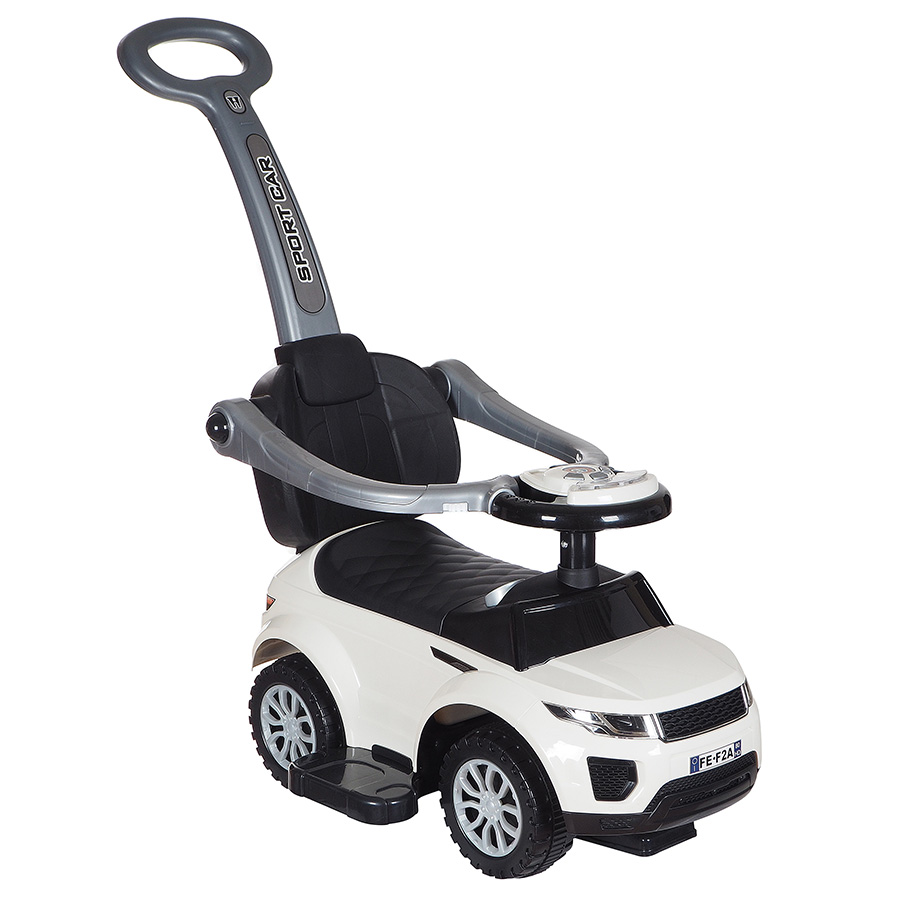 Купить Средняя, Машина-каталка Tommy ROC 107 белый, Каталки детские