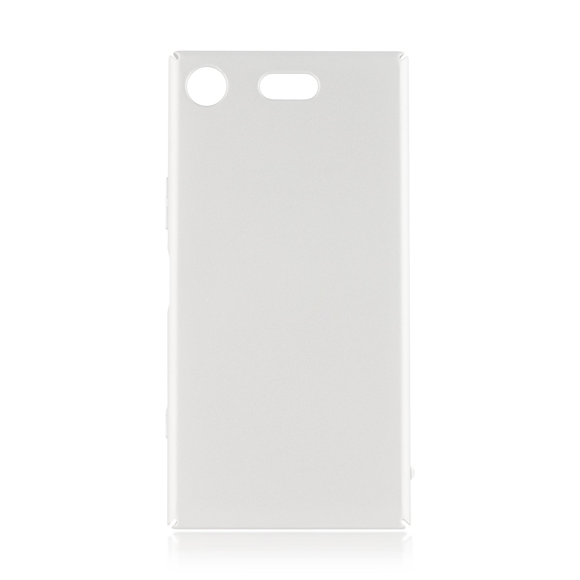 Накладка Brosco Soft-touch для Sony Xperia XZ1 Compact, серебряная