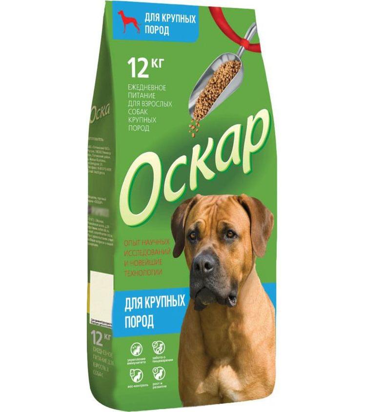 Сухой корм для собак ОСКАР для крупных пород 12 кг