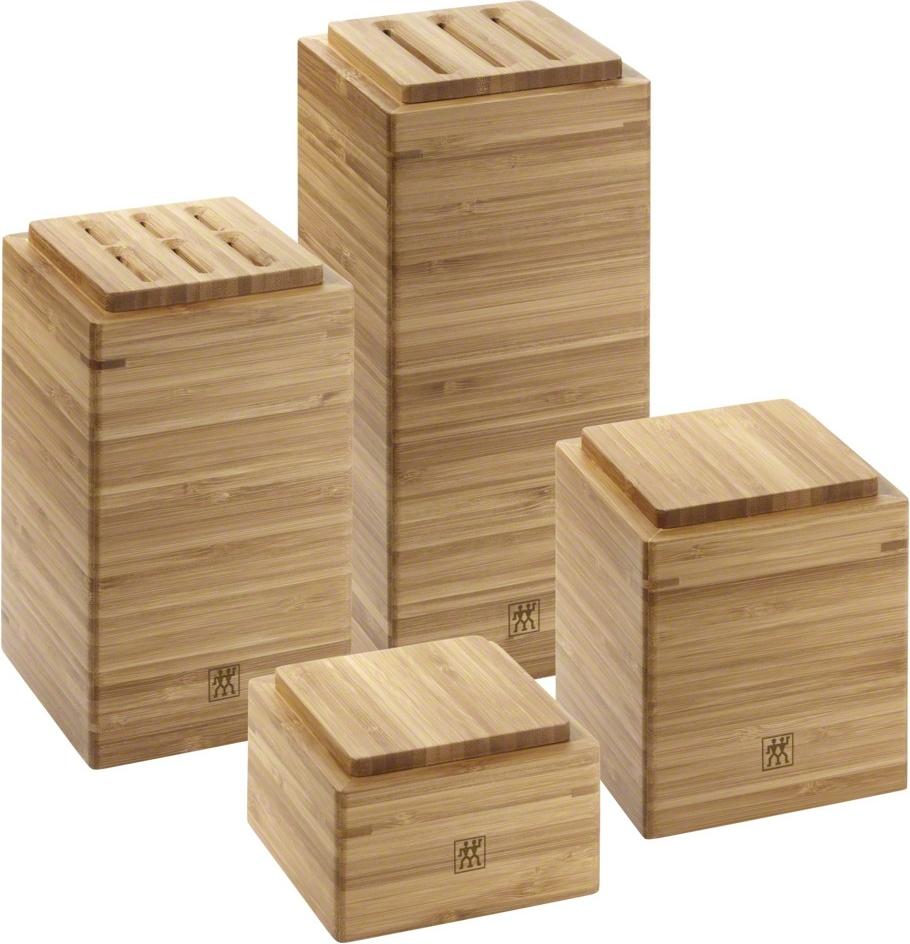 Набор подставок и контейнеров, бамбук, 4 шт,