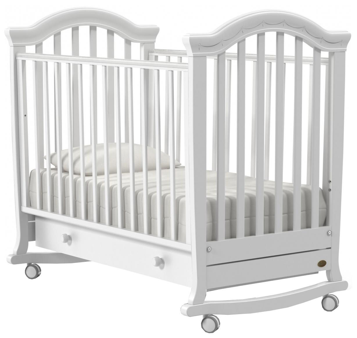 Кроватка Nuovita Perla Dondolo колесо-качалка bianco белый фото