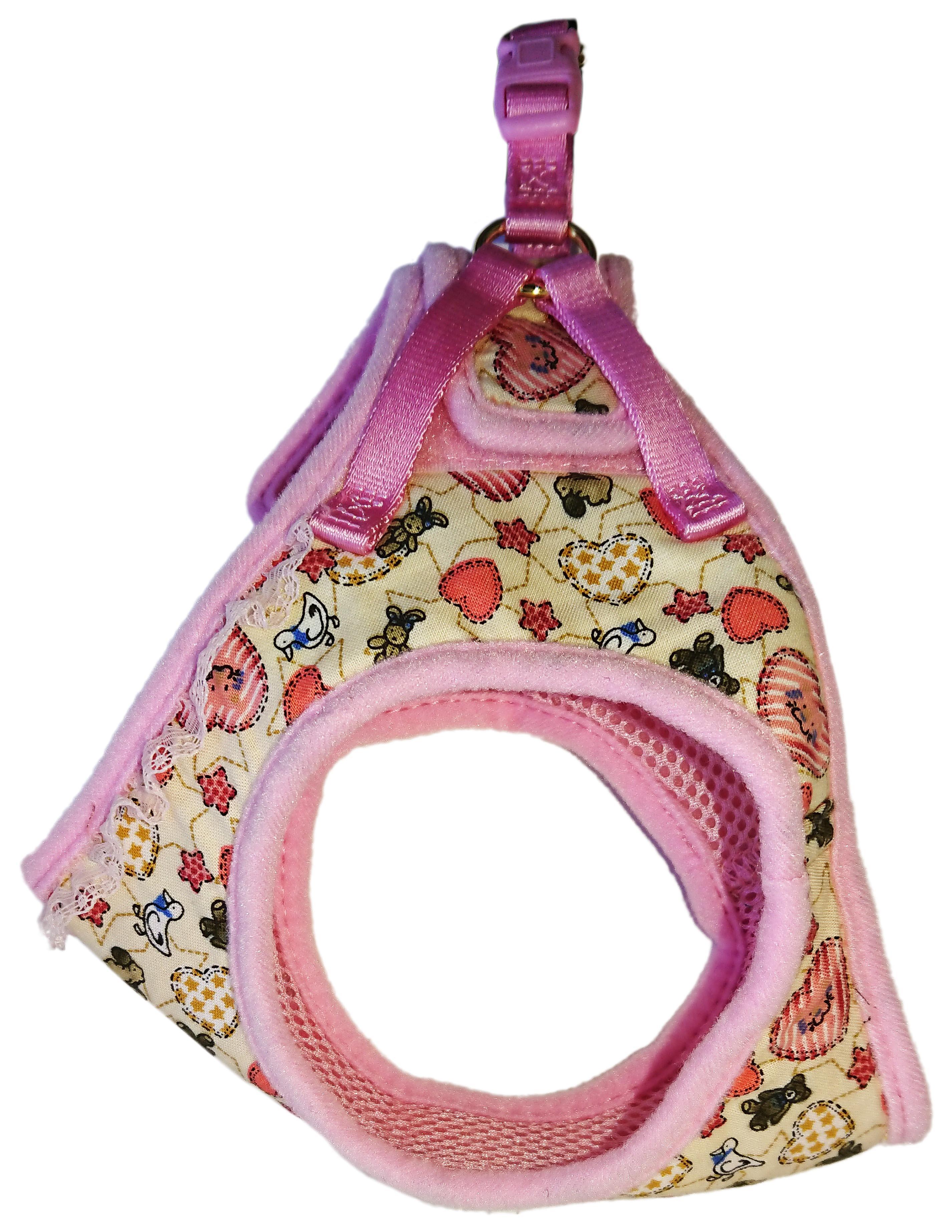 Шлейка для собак Premium Pet Japan Буржуа Мягкая S 7 кг Розовый