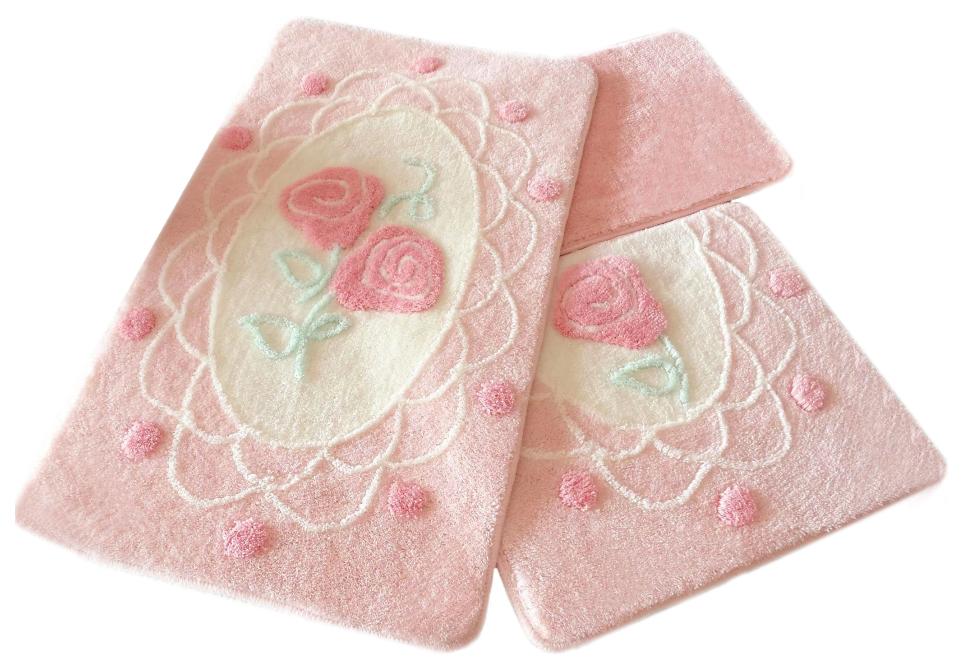 Коврик для ванной DO'n'CO Dantel Розовый (60х100