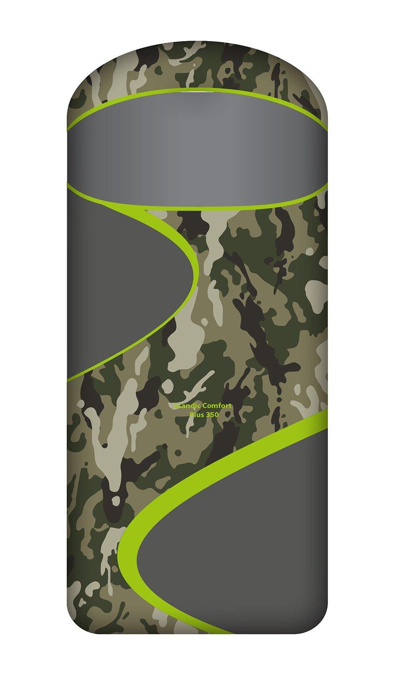 Спальный мешок Norfin Scandic Comfort Plus 350 NC серый, левый
