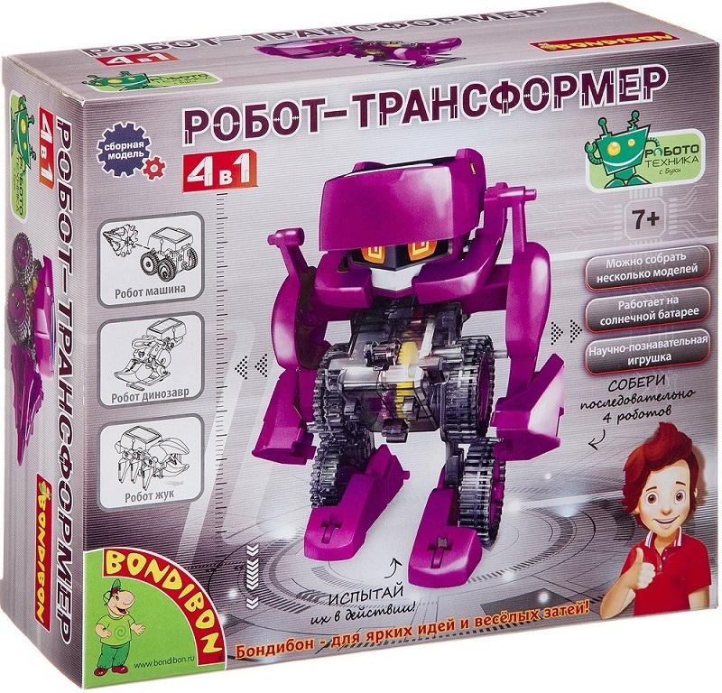 Опыт Bondibon Робот-трансформер 4 в 1 Робототехника с Буки Французские научные опыты