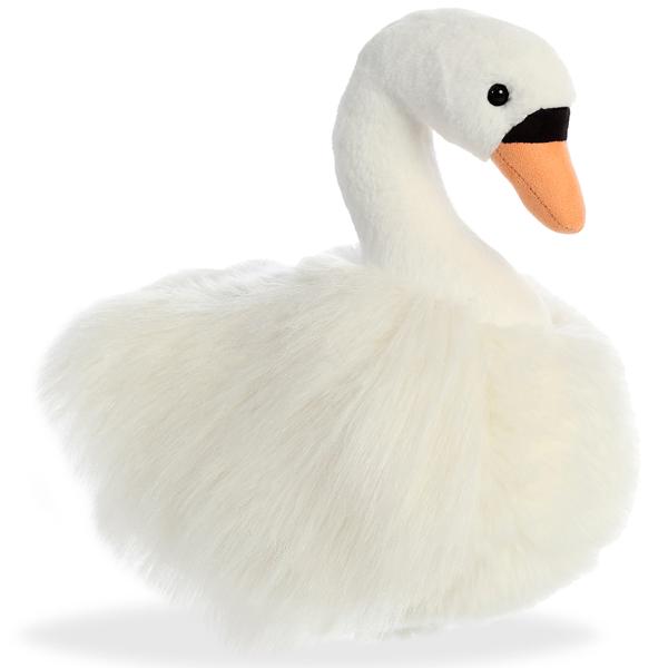 Купить Мягкая игрушка Aurora Лебедь 25 см 170441B, Мягкие игрушки птицы
