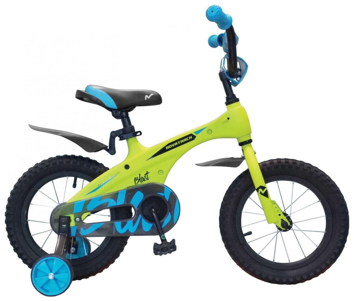 Купить Велосипед Novatrack 14 Blast магний-алюминиевая рама Зеленый неон,