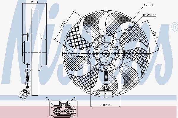 Вентилятор охлаждения двигателя NISSENS 85715