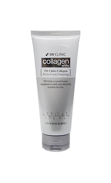 Пенка для умывания 3W Clinic Collagen Whitening Foam Cleansing 180 мл