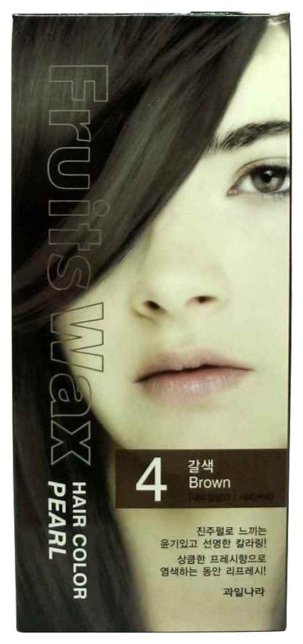 Купить Краска для волос Welcos Fruits Wax Pearl Hair Color 04 Brown 60 мл