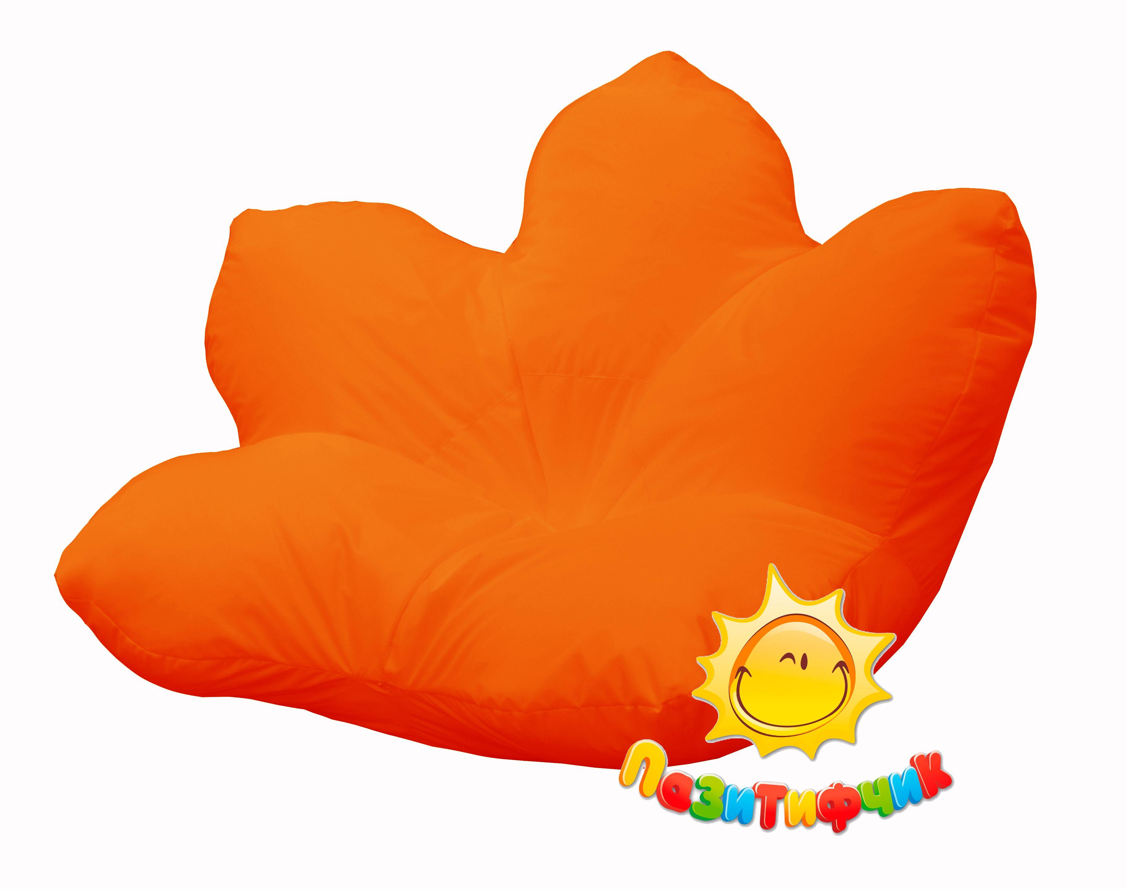Кресло-мешок Pazitif Цветок Пазитифчик, размер XXXL, оксфорд, оранжевый фото