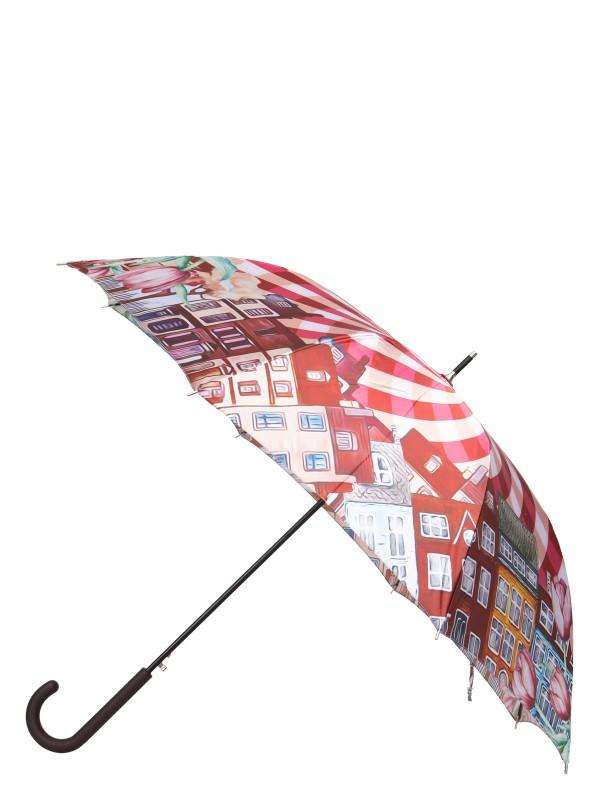 Зонт-трость женский полуавтоматический Eleganzza 01-00029238 фиолетовый