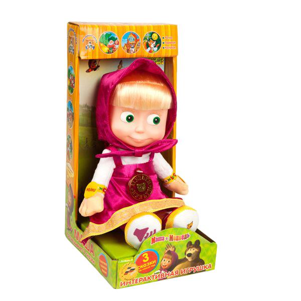 Мягкая игрушка Мульти-Пульти Маша (м/ф маша и медведь) рассказывает 3 сказки 30 см