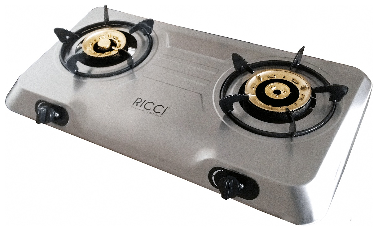Настольная газовая плитка Ricci RGH 702C Inox