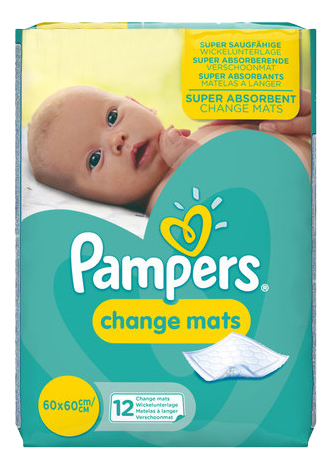 Пеленки для детей Pampers ChangeMats 60 х 60 см 12 шт.