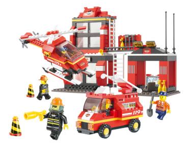 Конструктор пластиковый Sluban Пожарные Спасатели 371 Дет