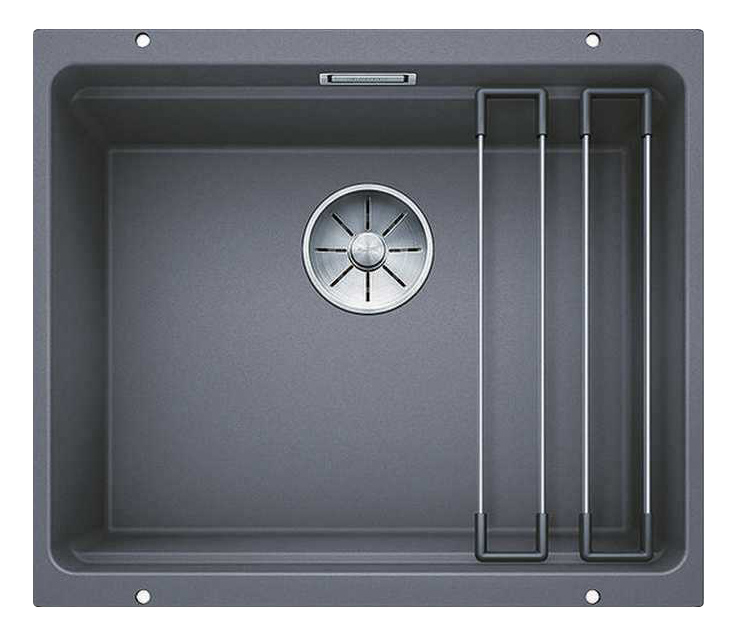 Мойка для кухни гранитная Blanco ETAGON 500-U 522228 темная скала фото