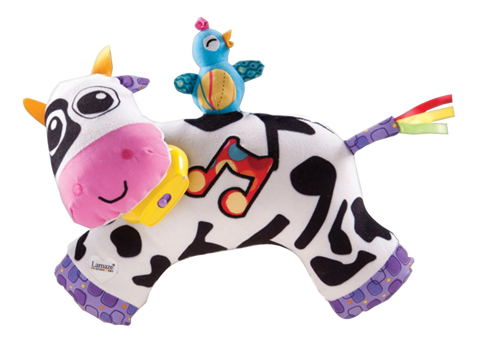 Купить Коровка, Мягкая игрушка Lamaze Музыкальная коровка, Интерактивные мягкие игрушки
