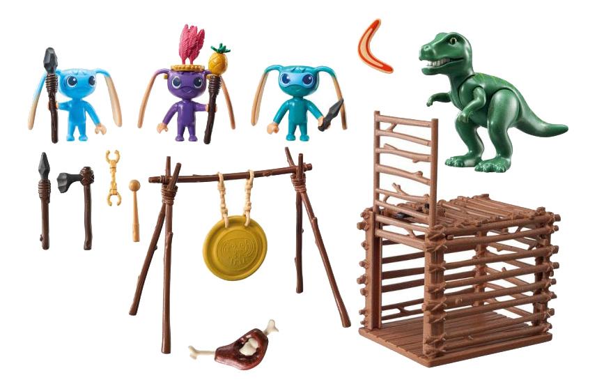 Игровой набор Playmobil PLAYMOBIL Инопланетный воин с Т-рекс ловушкой фото