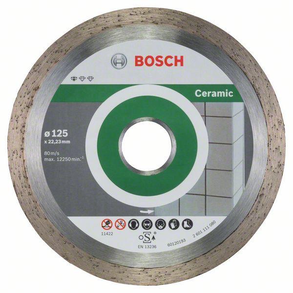 Диск алмазный отрезной Bosch Stnd Ceramic 10 шт 125/22,23 2608603232