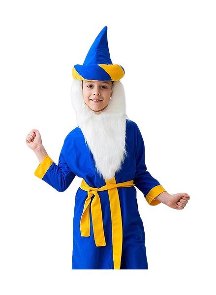 Карнавальный костюм Бока Волшебник, цв. синий р.122
