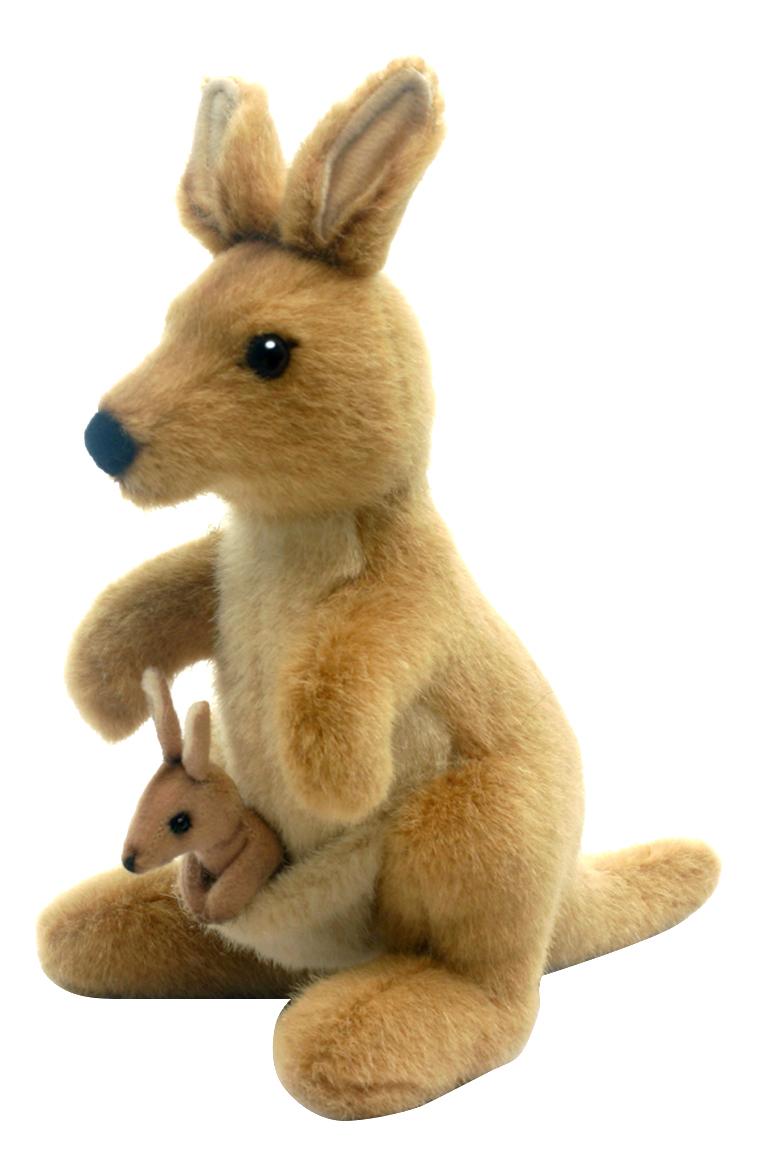 Купить Мягкая игрушка Hansa Кенгуру 20 см 3424, Мягкие игрушки животные