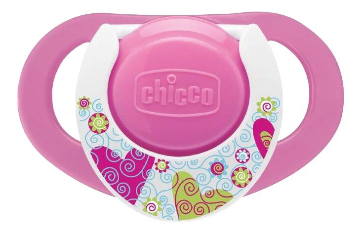 Силиконовая пустышка классическая Chicco Physio силикон розовый фото