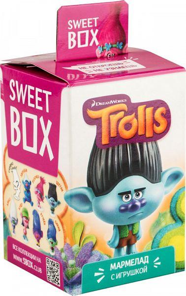 Мармелад жевательный с игрушкой Sweet box trolls в ассортименте 10 г по 10 штук