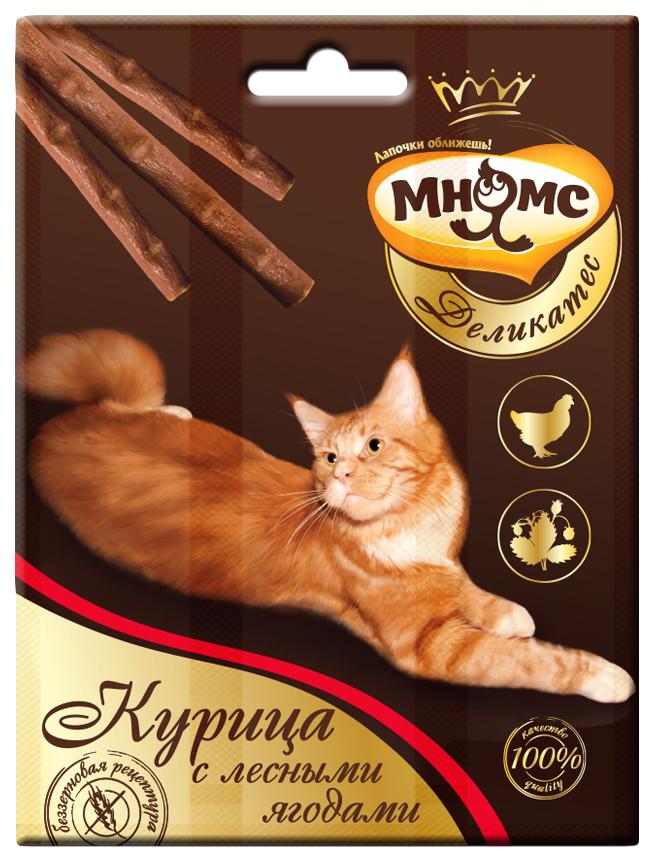 Лакомство для кошек Мнямс Деликатес, курица, лесные ягоды,  0,012кг