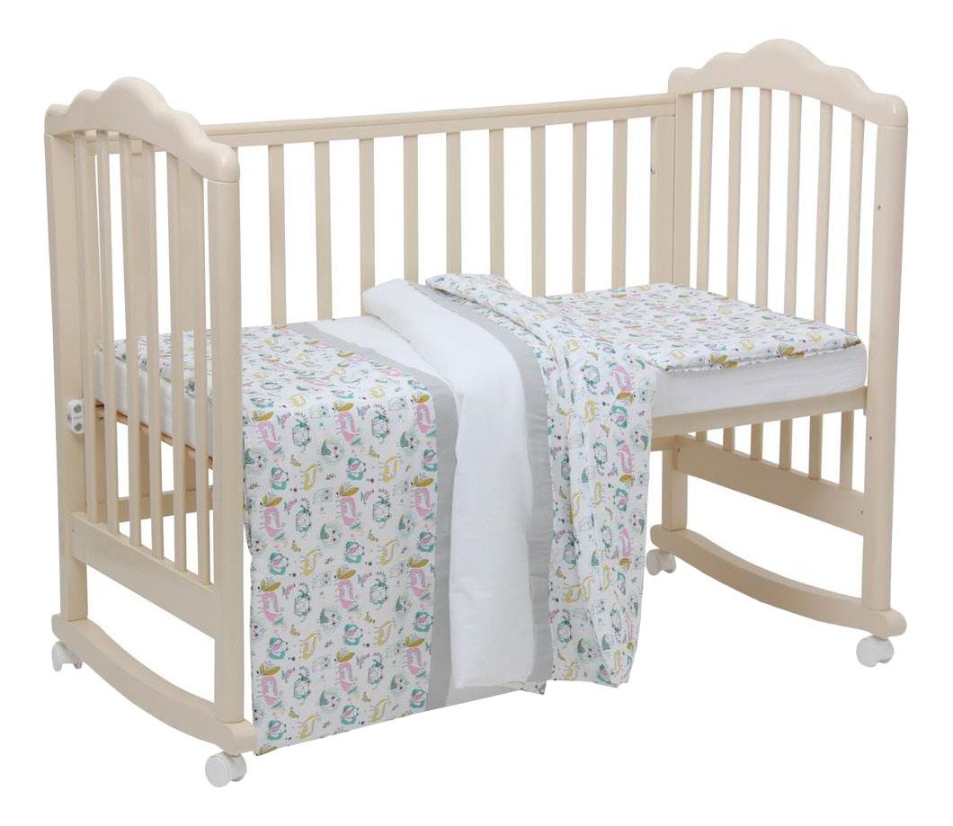 Комплект детского постельного белья Disney Последний богатырь. Лес серый Polini 3 предм. Polini Disney Последний богатырь, лес серый