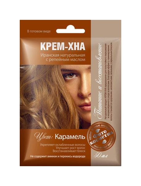 Краска для волос Фитокосметик Крем-хна Карамель 50 мл