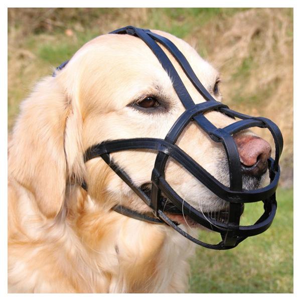 Намордник для собак Trixie Bridle Leather S, черный