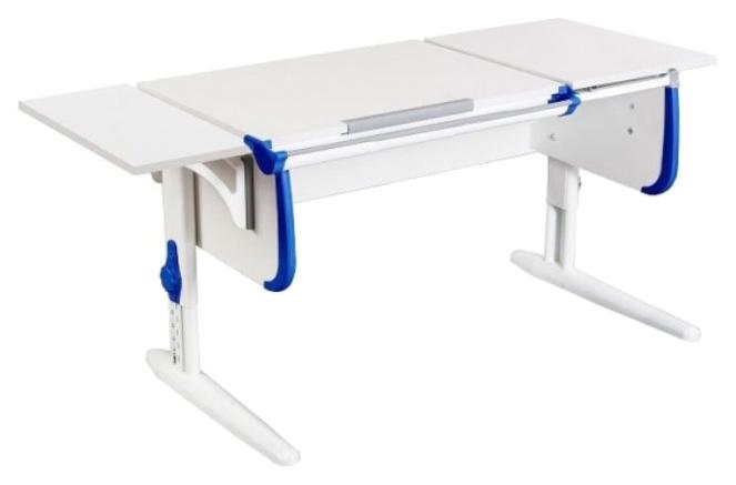 Парта Дэми White Стандарт СУТ-24-01 С задней приставкой Белый/Синий