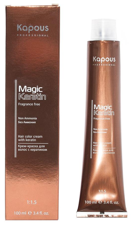 Купить Краска для волос Kapous Professional Magic Keratin Non Ammonia 5.35 Янтарный каштан 100 мл