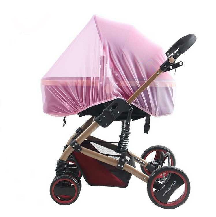 Москитная сетка на люльку Happy Mom розовая