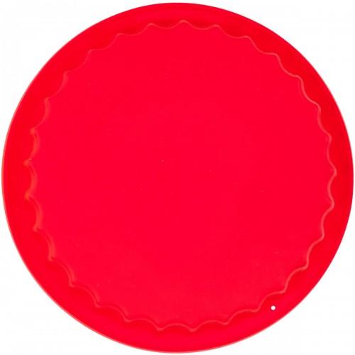 Силиконовая форма для выпечки круглая с волной