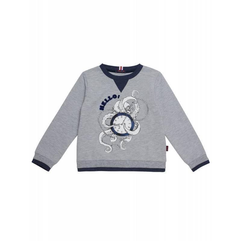 Купить 10202095/08, Джемпер Chinzari, цв. серый, 128 р-р, Детские джемперы, кардиганы, свитшоты