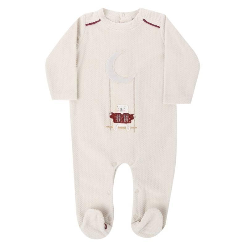 Купить Комбинезон BIBABY, цв. бежевый, 68 р-р, Трикотажные комбинезоны для новорожденных