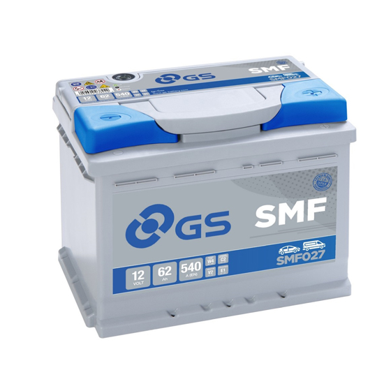 Аккумулятор GS Yuasa GS SMF027 12В 62Ач 540CCA 242x175x190 мм Обратная (-+) фото
