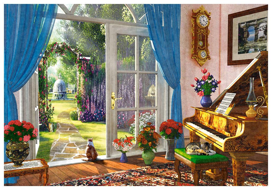 Купить Пазл Вид на сад , 1000 элементов, Castorland, Пазлы