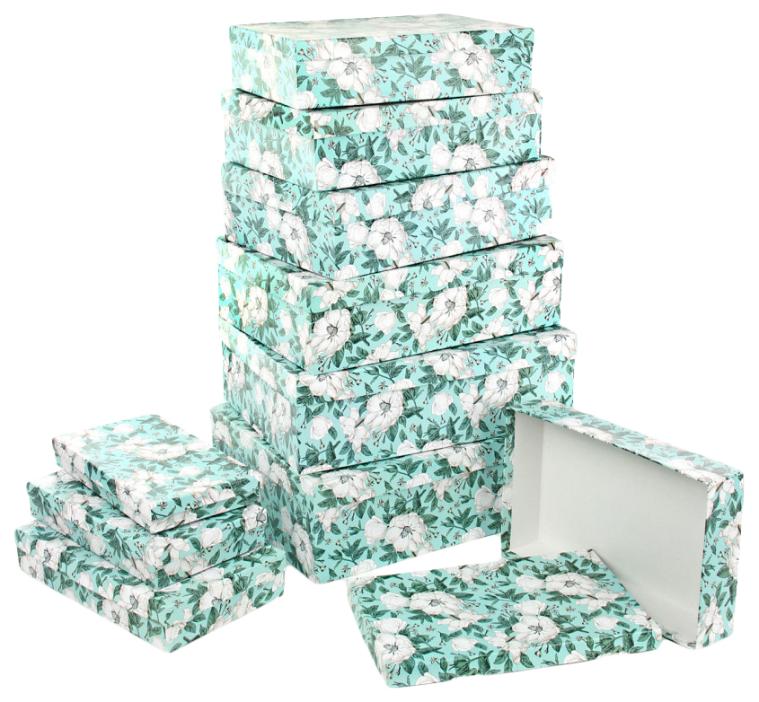 Набор подарочных картонных коробок Анаис, 10 шт. от 23x13x3 см до 36,5x26,5x12 см