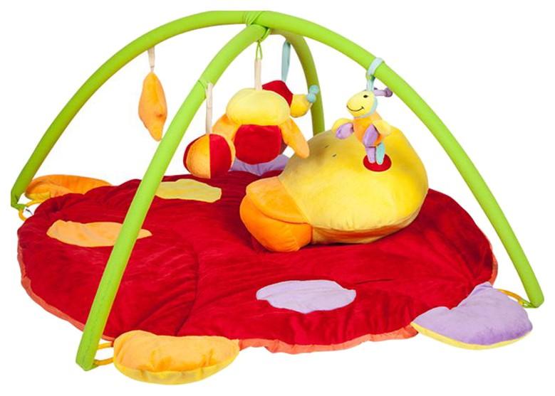 Купить Игровой развивающий коврик Mioshi Удивительный мир , с подвесными игрушками, 85х85х45 см, Развивающие коврики и центры