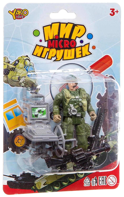 Набор игровой военный Yako Toys с солдатиком Мир micro Игрушек M7597-3