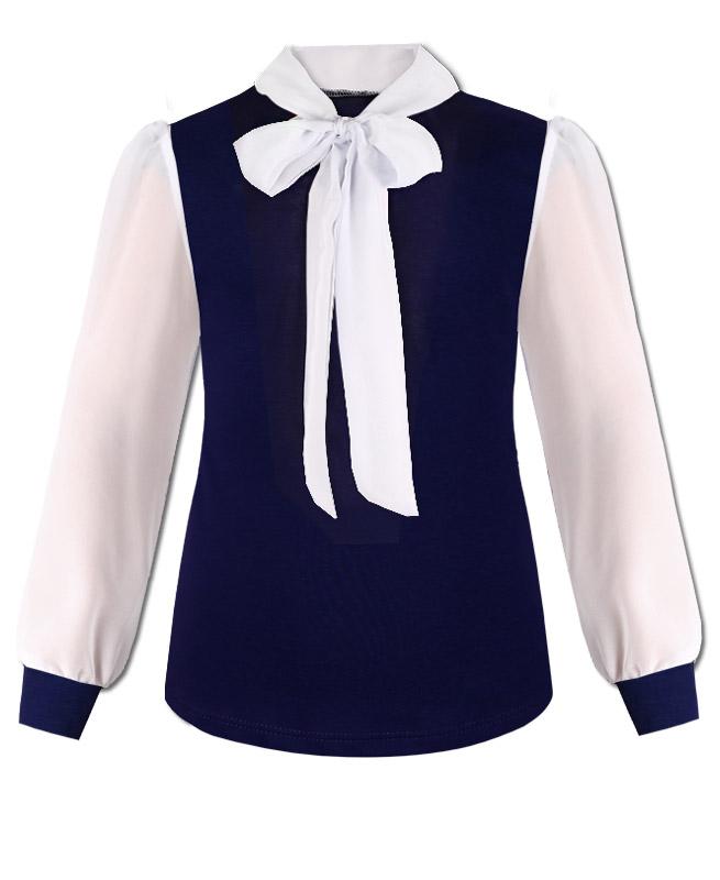 Купить Блузка Радуга Дети для девочки, цвет синий, 809214-ДШ19, р.152, Блузки для девочек