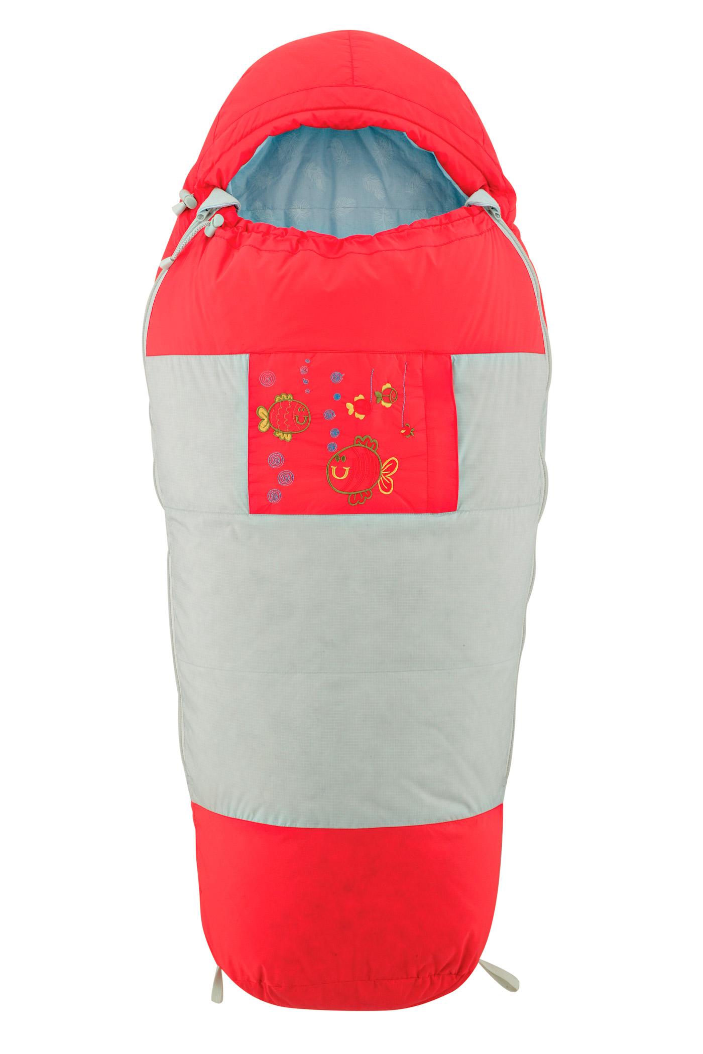 Детский спальный мешок унисекс KIDS BAG V2 1556A-8206 КРАСНЫЙ / СЕРЫЙ