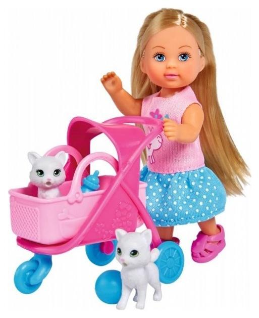 Кукла Simba Еви на прогулке с котятами